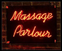 Massage Parlour Neon Sign
